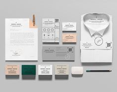 Stationery design by Anagrama for dry cleaning shop Nordic House.