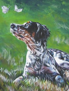 Llewellin English Setter art print CANVAS print of by TheDogLover, $39.99