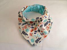 Floral Bandana Bib/Drool Bib/Baby Bib/Teething Bib/Baby Bandana/Baby Girl/Teal Minky Fabric by OccasionalGoods on Etsy