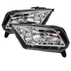 Spyder Auto HD-YD-FM2010-DRL-C Ford Mustang Chrome DRL LED Crystal Headlight - http://musclecarheaven.net/?product=spyder-auto-hd-yd-fm2010-drl-c-ford-mustang-chrome-drl-led-crystal-headlight