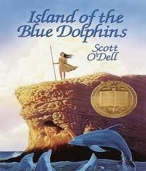 The Books They Made Us Read As Kids....Example --- Island Of The Blue Dolphins!!!! indiavintage