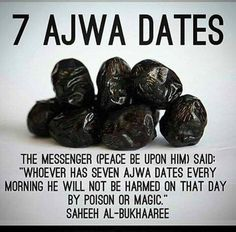 7 Ajwa Dates Quran Quotes Inspirational, Islamic Quotes, Islamic Images, Arabic Quotes, Islam And Science, Quran In English, Prophet Muhammad Quotes, Beautiful Names Of Allah, Books For Self Improvement