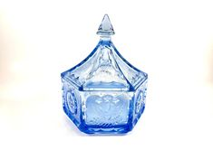 Excited to share this item from my shop: Blue Tiara Glass Colonial Star Lidded Candy Dish Glass Dishes, Candy Dishes, Antique Items, Vintage Items, Hard Water Spots, Vintage Home Decor, Vintage Art, Star Designs, Vintage Disney