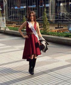 Edymar Martinez Miss Venezuela en el Miss International 2015, luego de su llegada a Japon..