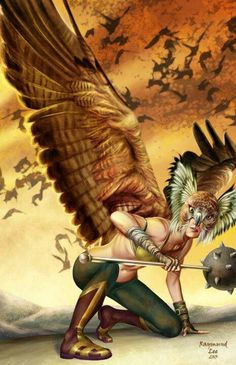 Hawkgirl. Fan art. DC-detective comics.
