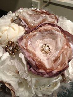 My Handmade Fabric Flower Bouquet Wedding Diy Flowers Photo 2a