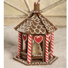 Gingerbread Putz Gazebo