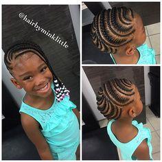 Little Girl Braid Styles, Kid Braid Styles, Little Girl Braids, Black Girl Braids, Braids For Kids, Girls Braids, Kid Styles, Kid Braids, Lil Girl Hairstyles