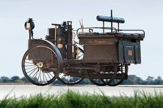 The world's oldest running car, an 1884 De Dion Bouton Et Trapardoux Dos-A-Dos Steam Runabout.