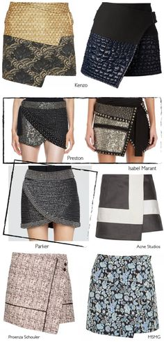 Wrap skirts - they've moved on since my dalliance with them in the mid 90's…