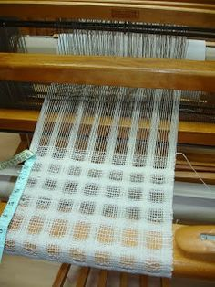 Spaced warp and weft