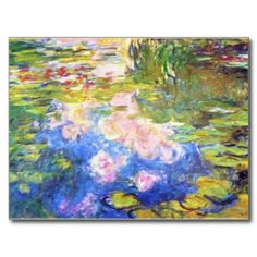 SOLD! - Water Lily Pond Claude Monet Postcard
