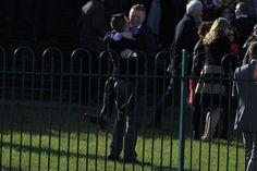Racegoers celebrate Un Atout winning the Tattersalls Ireland Champion Novice Hurdle Punchestown Festival