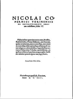 Original work of Copernicus page