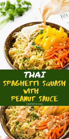 This is the thai peanut squash with the extra sauce - in order to use full can of coconut milk.