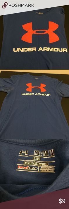Under Armour Loose charged Heat Gear M t-shirt Under Armour Loose Heat Gear M t-shirt. Arm pits have some deodorant stains but you could make this into a cutoff! Because of that I have listed it as a very low price. Under Armour Shirts Tees - Short Sleeve