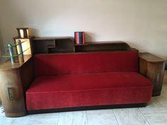 Sofa, Asymmetrical Art Deco sofa - Catawiki Art Deco Sofa, Art Deco Furniture, Cupboard Shelves, Upper Cabinets, Upholstery, Couch, The Originals, Interior, Home Decor