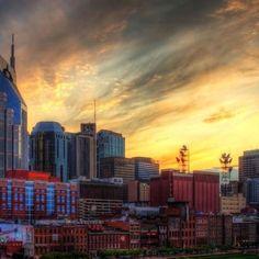 A friend's terrific photo of downtown Nashville.