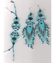 Beaded Filigree Bracelet and Earring set, Sova Enterprises