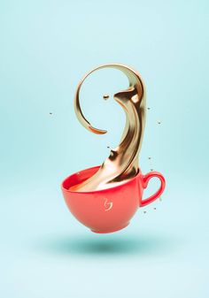 The Goldrush Project  Slovenian artist Črtomir Just made a 3D series about gold aesthetics. How coffee, smoke or candy would look like, if they were truly made out of gold ? The artist gives the answer through stunning digital printed creations.