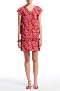 Sarksian Hand Block Printed Linen Dress   | Calypso St. Barth