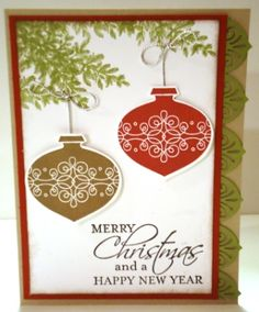 Christmas Ornaments by dani114 - Cards and Paper Crafts at Splitcoaststampers