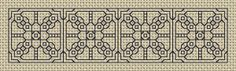 Blackwork Bookmark. Stitch Count = 19 x 76.