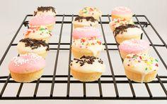 Baked White Chocolate Cake Doughnuts With Vanilla Glaze