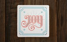 Miles Design 2013 Holiday Coaster Set in All Folked Up