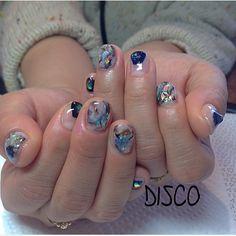 #disconail #nailart #nail  #opal #blackopal