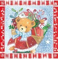 2245 Servilleta decorada Navidad