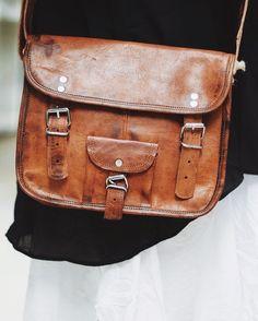 Tablet-PC-Taschen - Laptop-Tasche, Beutel, braune Ledertasche, braune  - ein Designerstück von TheHumanEra294 bei DaWanda
