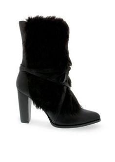 Penny Loves Kenny Women's Aper Boot - Black Faux Fur - 13 Wide