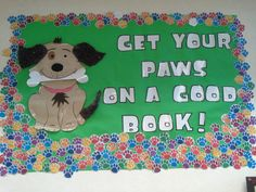 PAWS to Read Fur on ears and tail.  Kids names on paw prints