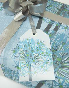 Winter Allium Christmas Gift Wrap Set, by Jane Crick via Folksy, £5.00
