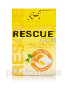 Rescue Gum 17 Pieces 37 Grams Each by Bach Flower Remedies