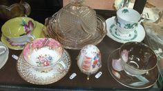 Set of Japanese & England Saucer & Tea Cup Wine Decanter, Punch Bowls, Tea Cups, Porcelain, England, Japanese, Crystals, Chic, Elegant
