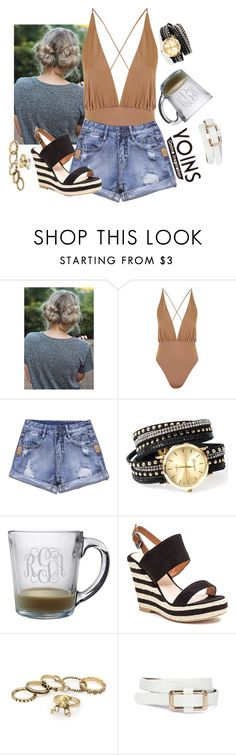 """Untitled #2607"" by moria801 ❤ liked on Polyvore featuring Topshop, jcp, French Blu and yoins"