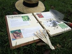 Did you forget where you planted those peas last year? Track your garden with a handmade journal, and leave room for pictures of all your beautiful blooms. Learn how to make one for yourself... just click through.