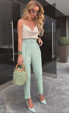 Casual Brunch Outfit, Casual Work Outfits, Professional Outfits, Mode Outfits, Pretty Outfits, Stylish Outfits, Business Casual Outfits, Summer Brunch Outfit, Cute Party Outfits