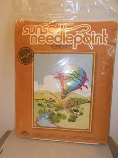 Up and Away Sampler Sunset Needlepoint Kit Ruth by RomanceWriter