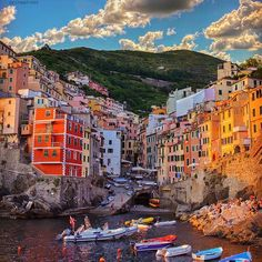 """The amazing content creator and our friend, @sennarelax, transports us to the rainbow-hued homes of Cinque Terre. Here's his story behind the photo and the destination: """"Everyone who dreams of travel should go at least once to Italy. I love this place--it's full of colorful homes that you can see while hiking along the beautiful mountains and towns. The people are extremely kind and the area has been named a UNESCO World Heritage Site. It's definitely my peace place."""""""