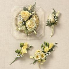 corsage and boutonniere ideas