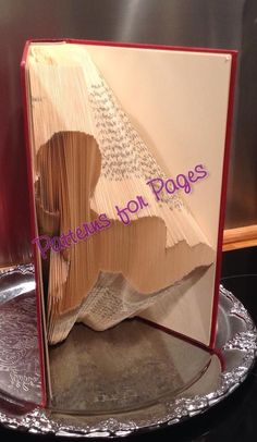 Book folding pattern for CRAWLING BABY by PatternsForPages on Etsy