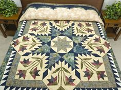 Blooming Star Quilt -- outstanding well made Amish Quilts from Lancaster (hs5931)