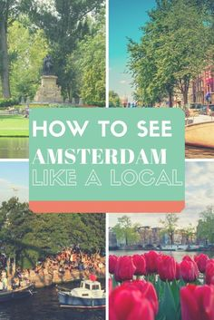 Things to do in Amsterdam from locals! Don't miss out on seeing Amsterdam through a local's eyes