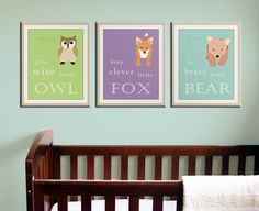 Woodland creatures prints nursery