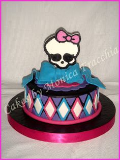 TORTA DECORADA DE MONSTER HIGH (VERSION III) | TORTAS CAKES BY MONICA FRACCHIA