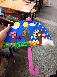 seasons preschool activities and crafts « Preschool and Homeschool Kids Crafts, Toddler Crafts, Projects For Kids, Art Projects, Arts And Crafts, Paper Crafts, Diy Paper, Weather Crafts, Spring Crafts