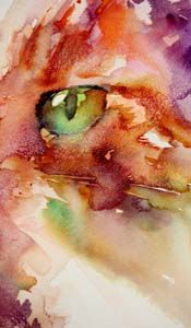 """""""A Hint of  Green Eyed Envy"""" Jean Haines"""